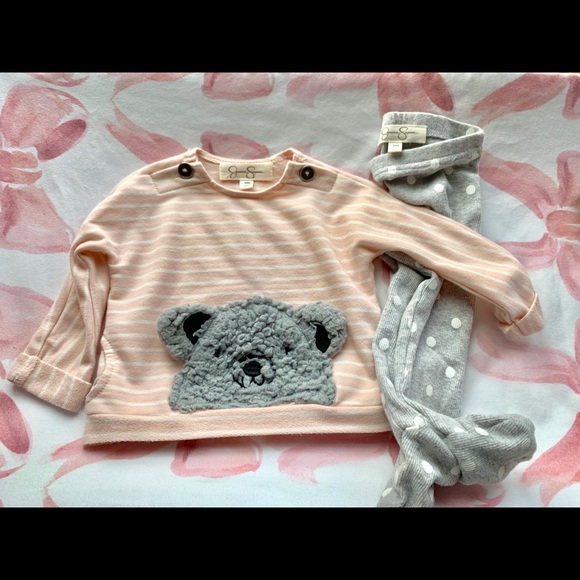 Jessica Simpson baby girl two set pc outfit 12m-4T New